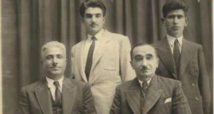 Dr Ehmed Nafiz Zaza rûniştî û Dr. Nureddin Zaza ji piya